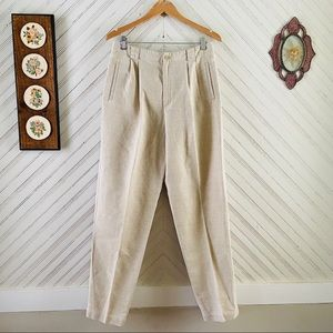 90's Linen High Waisted Trousers